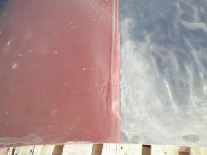 Borgwardin takaluukku puoliksi soodapuhallettu.